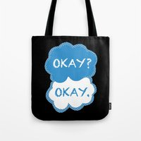 tfios Tote Bags featuring TFIOS Dots by All Things M