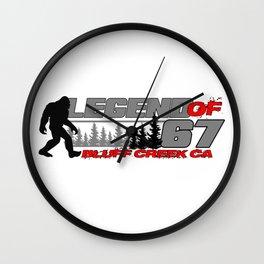 Legend of 67 Bluff Creek, CA Wall Clock