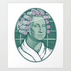 Laundering Day Art Print