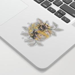 honey bees Sticker