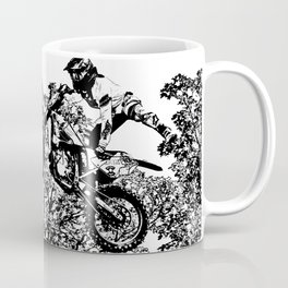 Stealing the Air - Freestyle Motocross Rider Coffee Mug