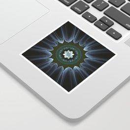 Blossom Within in White Sticker
