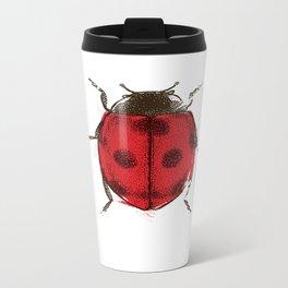 Ladybug Metal Travel Mug
