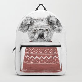 Winter koala (red) Backpack