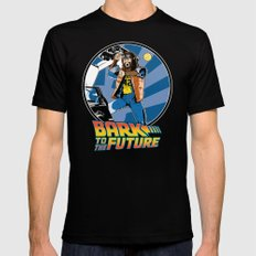 Bark to the Future Mens Fitted Tee Black X-LARGE