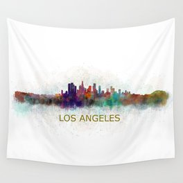 Los Angeles City Skyline HQ v4 Wall Tapestry
