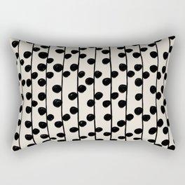 Dots / Black & White Pattern Rectangular Pillow