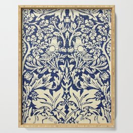 Brother Rabbit - Sand on Navy, William Morris Serving Tray