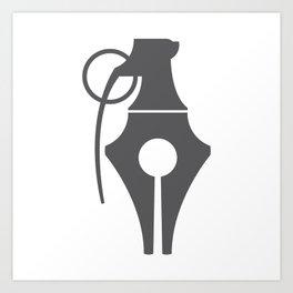 Penade (Pen + Grenade) Art Print