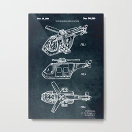 1994 - Toy building helicopter Metal Print