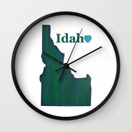 Idaho State Love Wall Clock