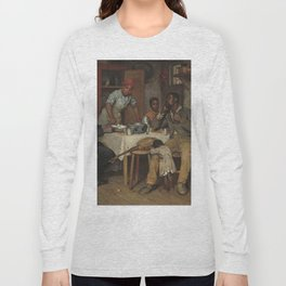 Richard Norris Brooke A Pastoral Visit 1881 Painting Long Sleeve T-shirt