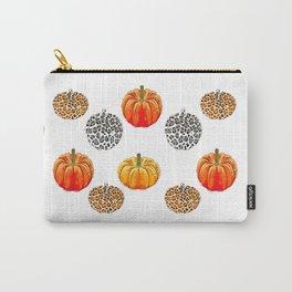 Leopard Pumpkin Print Carry-All Pouch