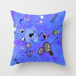 Blue Miro Throw Pillow
