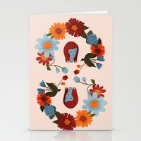 redhead Stationery Cards featuring Redhead by olivia mew