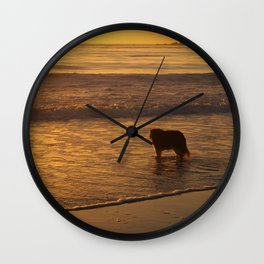 Beach Dog Wall Clock