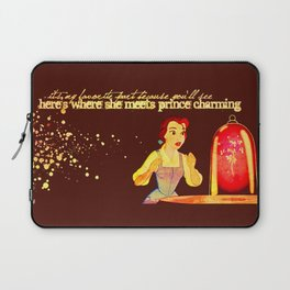 Belle and the enchanted rose Laptop Sleeve