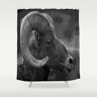 ram Shower Curtains featuring Ram by Barbara Schultheis