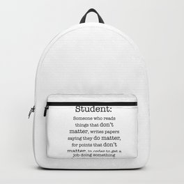 Student definition Backpack