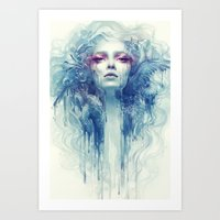 oil Art Prints featuring Oil by Anna Dittmann