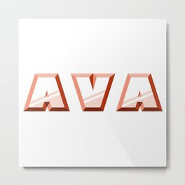 """""""AVA"""" first name red pattern Metal Print"""