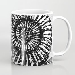 AMMONITE COLLECTION B&W Coffee Mug