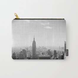 Manhattan - Empire State Building Panorama | B/W Carry-All Pouch