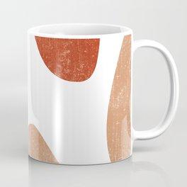 Terracotta Art Print 7 - Terracotta Abstract - Modern, Minimal, Contemporary Print - Burnt Orange Coffee Mug