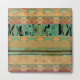 381 8 Rustic Tribal Southwest Pattern Metal Print
