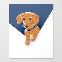 dot Canvas Prints featuring Dot by Matt Mawson
