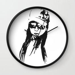girl beach Wall Clock