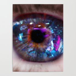 Teal Eye Poster