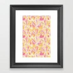Art Deco Pattern in Pink and Orange Framed Art Print