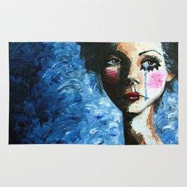 Sad Clown Girl Rug