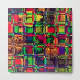 Vivid glass art 2B Metal Print
