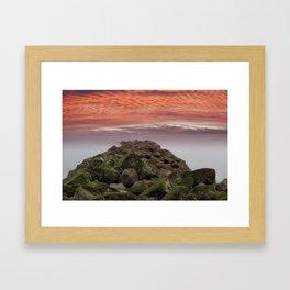 Sunrise Colwyn Bay Framed Art Print