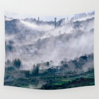 vietnam Wall Tapestries featuring Foggy Mountain of Sa Pa in VIETNAM by CAPTAINSILVA