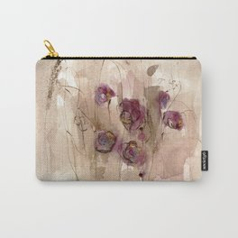 Vibrations - Abstract Flowers Carry-All Pouch