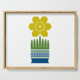 Nordic Yellow Flower Serving Tray