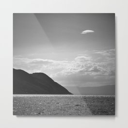 Leman Lake. Alps. Switzerland. Bw Metal Print