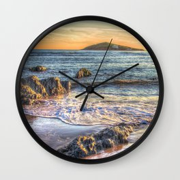 Sunset over Burgh Island from Bantham Wall Clock