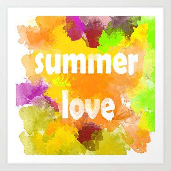 I love summer . Bright colorful design . Art Print
