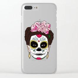 Frida / Dia De Los Muertos Clear iPhone Case