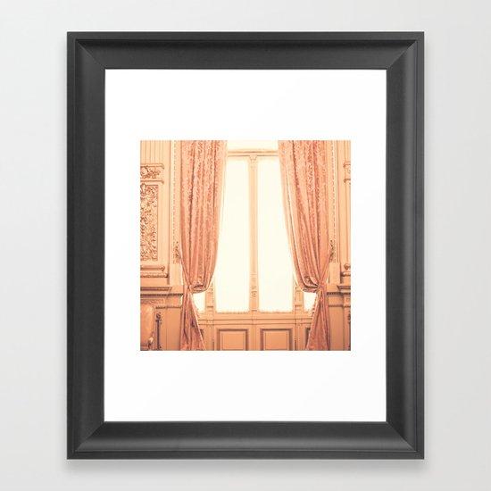 Rose Smoke Room  Framed Art Print