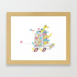Zoo on Wheels Framed Art Print