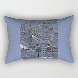 Monsieur Millet's Umbrellas Rectangular Pillow
