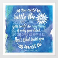 Throne of Glass by Sarah J. Maas Book Quote - Rattle The Stars Art Print