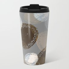 Seed Pods Neutral Color Graphic Pattern Metal Travel Mug