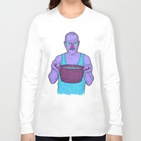 cook Long Sleeve T-shirts featuring Cook (fiolet) by Lime