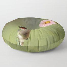 Tiny Hummer Floor Pillow